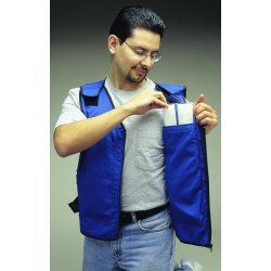 Allegro - 8413-03 - Cooling Vest, Cotton, Blue, L, Fits Chest Size 34 to 44""