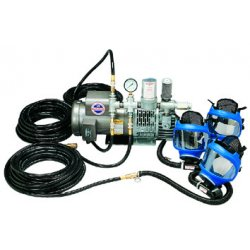 Allegro - 9200-03 - Supplied Air Pump Package, 1-1/2 HP, People Served: 3, Headgear Included: Full Face Respirator