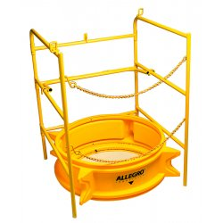 Allegro - 9401 - Confined Space Manhole Guard Rail 32x33x33 Steel 43 Pound Allegro, Ea