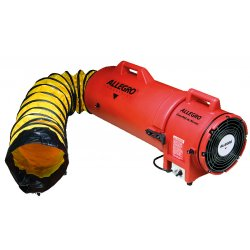 Allegro - 9533-15 - Allegro 32' X 13 1/2' X 14 1/2' 831 cfm 1/3 hp 115 VAC 3 A Motor Polyethylene Com-Pax-Ial Blower With Canister And 8' X 15' Duct, ( Each )