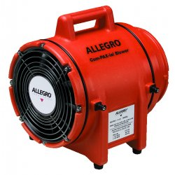 Allegro - 9533 - Axial Confined Space Fan, 1/3 HP, 115VAC Voltage, 3200 rpm Blower/Fan Speed