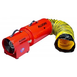 Allegro - 9534-25 - Allegro 28' X 11' X 10' 778 cfm 1/3 hp 115 VAC 3 A Motor Cold Rolled Steel Com-Pax-Ial Blower With 25' Canister Assembly, ( Each )