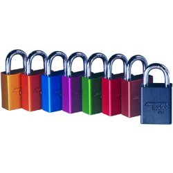 American Lock - A1105 BLU - Blue Lockout Padlock, Different Key Type, Master Keyed: No, Aluminum Body Material