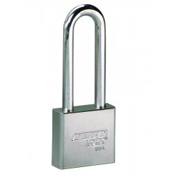 American Lock - A5262KA - American Lock Silver Solid Steel High Security Padlock Boron Alloy Shackle
