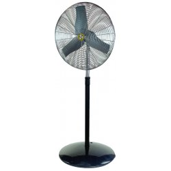 "Airmaster - 71526 - Airmaster Floor Fan - 30"" Diameter - 3 Speed - Adjustable - 11"" Height x 35"" Width - Steel Blade"