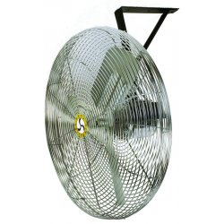 Airmaster - 71573 - Airmaster Wall Mount Fan - 30 Diameter - 3 Speed - Pivoting Head, Adjustable Tilt Head - 63 Height x 33 Width x 22.6 Depth - Steel Housing