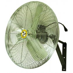 "Airmaster - 71582 - Airmaster Wall Mount Fan - 30"" Diameter - 3 Speed - Oscillating, Adjustable - 33"" Width - Steel Blade"
