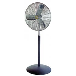 "Airmaster - 71586 - Airmaster Floor Fan - 30"" Diameter - 3 Speed - Adjustable Height - 69"" Height x 32.5"" Width x 26"" Depth - Steel Housing"