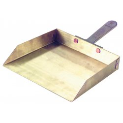 "Ampco Safety Tools - D-50 - Nickel/Aluminum/Bronze/Brass Hand Held Dust Pan, Overall Length 12"", Overall Width 9"""