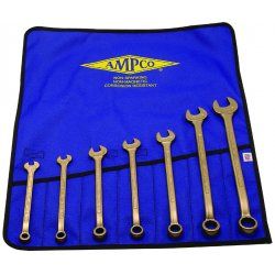 Ampco Safety Tools - M-41 - 7-pc Combination Wrenchset W/vinyl Rol