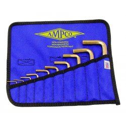 "Ampco Safety Tools - M-42 - Ampco Safety Tools 1/16"" - 3/8"" 10 Piece Hex Key Set"