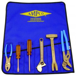 Ampco Safety Tools - M-47 - Nonsparking Tool Set, Nonmagnetic, Corrosion Resistant, Number of Pieces 6