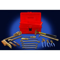 Ampco Safety Tools - M-49 - Nonsparking Tool Set, Nonmagnetic, Corrosion Resistant, Number of Pieces 16