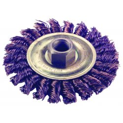 "Ampco Safety Tools - WB-40KT - Arbor Hole Wire Wheel Brush, Knot Wire, 4"" Brush Dia."