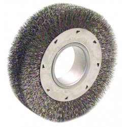 "Anderson Brush - 02344 - Dh8 8"" .014 Wide Face Wire Wheel W/2"" Arbor"
