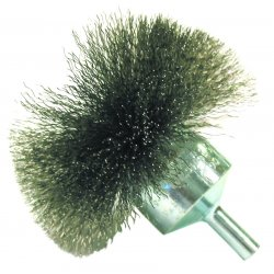 "Anderson Brush - 06141 - Nf40 4"" .008 Carbon Circular Flared End Brush"