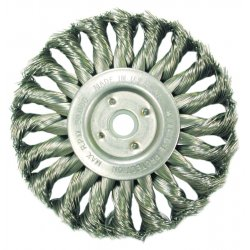 "Anderson Brush - 13625 - 4"" Hurriacne Knot Wheel.014 Ss 5/8-11"