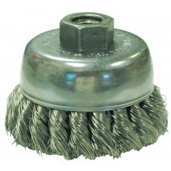 "Anderson Brush - 17195 - Anderson Products 2 3/4"" X 5/8"" - 11 US Series Carbon Steel Single Row Hurricane Twist Knot Wire Cup Brush For Use On Right Angle Grinders"