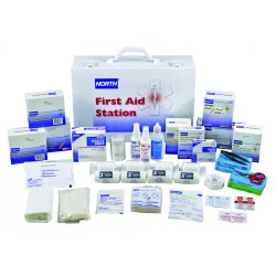 North Safety / Honeywell - 019720-0009L - Dwos 100 Person First Aid Kitfilled 15x11x5""