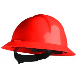 North Safety / Honeywell - A49150000 - A-safe Red Full Brim Safety Hat Slotted