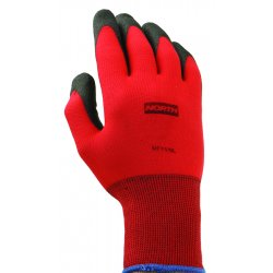 North Safety / Honeywell - NF11/9L - Northflex Red Nylon/foampvc Glove 9l 15 Gauge
