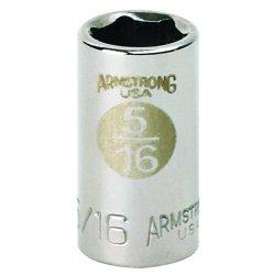 """Armstrong Tools - 10-018 - 1/4"""" Dr Socket- 9/16"""" Opg 6-pt Std- C"""