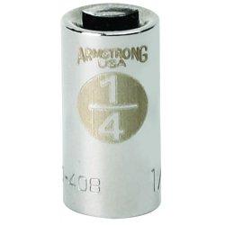 """Armstrong Tools - 10-408 - 1/4"""" Dr Socket- 1/4"""" Opg4-pt Std- C"""