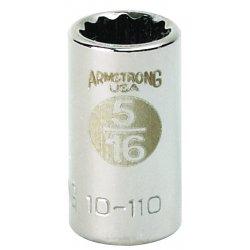 """Armstrong Tools - 10-412 - 1/4"""" Dr Socket- 3/8"""" Opg8-pt Std- C"""