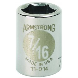 """Armstrong Tools - 11-010 - 3/8"""" Dr Socket- 5/16"""" Opg 6-pt Std- C"""