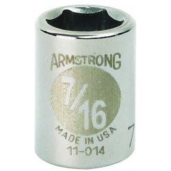 """Armstrong Tools - 11-014 - 3/8"""" Dr Socket- 7/16"""" Opg 6-pt Std- C"""