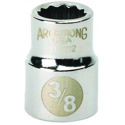 """Armstrong Tools - 11-108 - 3/8"""" Dr Socket- 1/4"""" Opg12-pt Std-"""