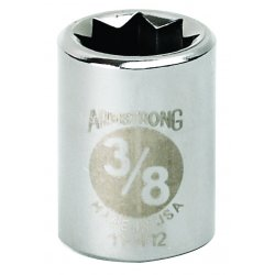 """Armstrong Tools - 11-412 - 3/8"""" Dr Socket- 3/8"""" Opg8-pt Std- C"""