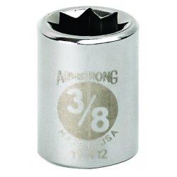 """Armstrong Tools - 11-414 - 3/8"""" Dr Socket- 7/16"""" Opg 8-pt Std- C"""