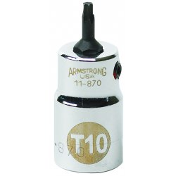 """Armstrong Tools - 11-886 - 3/8"""" Dr Torxdrvr- T50 Bit Std Bit- Ch"""