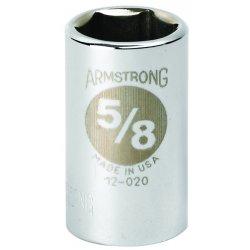 """Armstrong Tools - 12-020 - 1/2"""" Dr Socket- 5/8"""" Opg6-pt Std- C"""