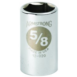 "Armstrong Tools - 12-044 - 1-3/8"" Opg 1/2""dr Std Chrome Socket 6pt."