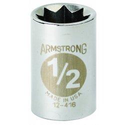 """Armstrong Tools - 12-414 - 1/2"""" Dr Socket- 7/16"""" Opg 8-pt Std- C"""