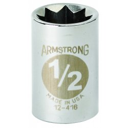 """Armstrong Tools - 12-416 - 1/2"""" Dr Socket- 1/2"""" Opg8-pt Std- C"""