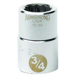 """Armstrong Tools - 13-144 - 3/4"""" Dr Socket- 1-3/8"""" Opg 12-pt Std-"""