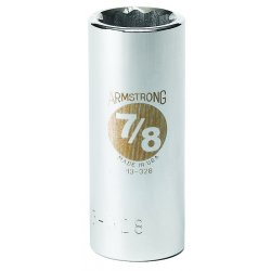 "Armstrong Tools - 13-336 - 3/4"" Dr Socket- 1-1/8"" Opg 12-pt Deep-"