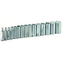 "Armstrong Tools - 15-580 - 15 Pc 6 Pt Deep 1/2"" Dr.socket Set"