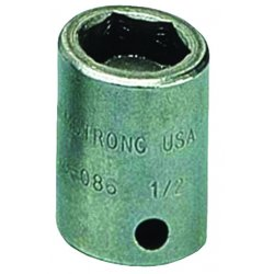 "Armstrong Tools - 19-086 - 3/8"" Dr Power Skt- 1/2""6-pt Std- B"