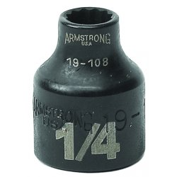 "Armstrong Tools - 19-114 - Dwos 3/8"" Dr Power Skt- 7/16""12-pt Std-b"