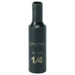 "Armstrong Tools - 19-314 - 3/8"" Dr Power Skt- 7/16""12-pt Deep-"