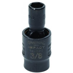 "Armstrong Tools - 19-566 - 3/8"" Dr Power Skt- 1/2""6-pt Flex-"