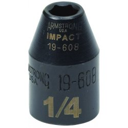 "Armstrong Tools - 19-614 - 7/16"" Impact Socket 6 Pt3/8"" Drive"