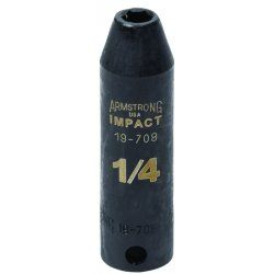 "Armstrong Tools - 19-714 - 7/16"" 6 Pt 3/8"" Drivedeep Socket"