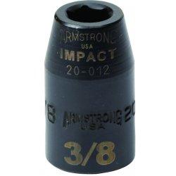 "Armstrong Tools - 20-012 - 1/2"" Dr Impact Skt- 3/8""6-pt Std- B"