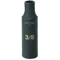 "Armstrong Tools - 20-336 - 1/2"" Dr Power Skt- 1-1/8"" 12-pt Deep-"