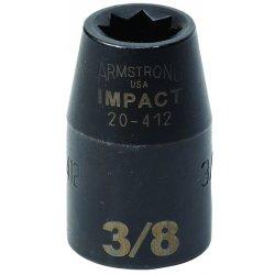 "Armstrong Tools - 20-412 - 1/2"" Dr Impact Skt- 3/8""8-pt Std- B"